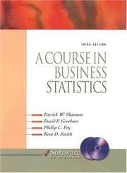 Cover of: A course in business statistics