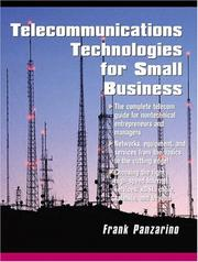 Cover of: Telecommunications Technologies for Small Businesses | Frank Panzarino