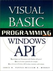 Cover of: Visual Basic programming with the Windows API | Chris H. Pappas