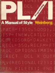 PL/I programming: a manual of style