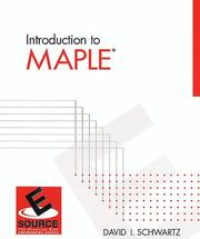 Cover of: Introduction to Maple for engineers and scientists