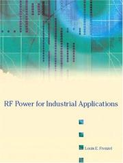 Cover of: RF Power for Industrial Applications