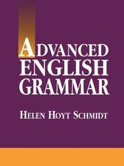Cover of: Advanced English grammar | Helen Hoyt Schmidt