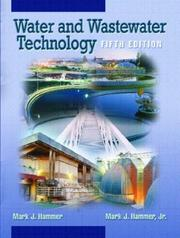Cover of: Water and Wastewater Technology