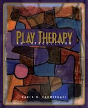 Cover of: Play Therapy | Karla Delle Carmichael