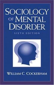Cover of: Sociology of mental disorder