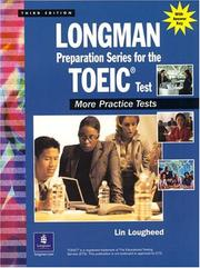 Cover of: Longman preparation series for the TOEIC test