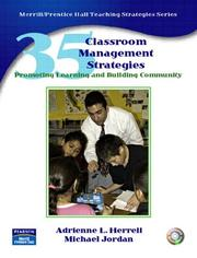 Cover of: 35 Classroom Management Strategies | Adrienne L. Herrell