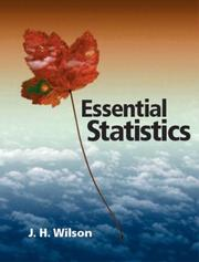 Cover of: Essential Statistics | Janie H. Wilson