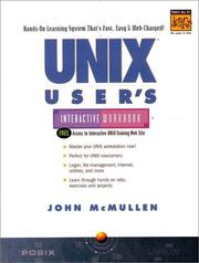 Cover of: UNIX user's interactive workbook