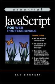 Cover of: Essential JavaScript for Web professionals