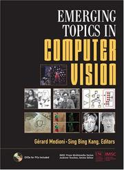 Cover of: Emerging Topics in Computer Vision (IMSC Press Multimedia Series) | Gerard Medioni