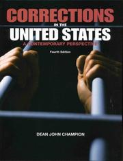 Corrections in the United States by Dean J. Champion