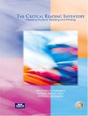 Cover of: The Critical Reading Inventory | Mary D. Applegate