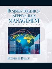 Cover of: Business Logistics/Supply Chain Management | Ronald Ballou