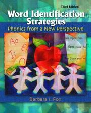 Word Identification Strategies by Barbara J. Fox