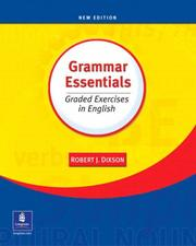 Cover of: Grammar essentials: graded exercises in English