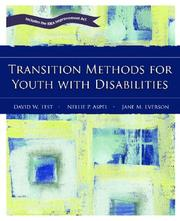 Cover of: Transition Methods for Youth with Disabilities | David W. Test