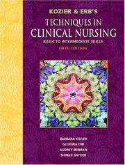 "Cover of: Kozier and Erb's Techniques in Clinical Nursing ""Basic to Intermediate Skills"""