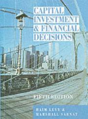 Cover of: Capital investment and financial decisions