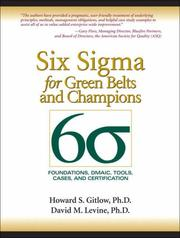 Cover of: Six sigma for green belts and champions