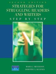 Cover of: Strategies for Struggling Readers and  Writers (2nd Edition) | Maria J. Meyerson