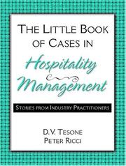 Cover of: The Little Book of Cases in Hospitality Management | Dana V. Tesone