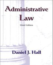Cover of: Administrative law | Hall, Daniel