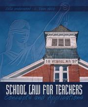 Cover of: School Law for the Teachers | Julie Underwood