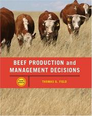 Cover of: Beef Production Management and Decisions (5th Edition) | Tom G. Field