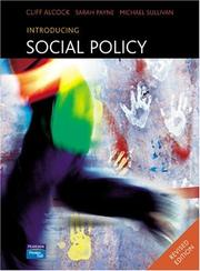 Cover of: Introducing Social Policy | Cliff Alcock