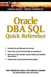 Cover of: Oracle DBA SQL quick reference