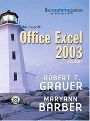 Cover of: Exploring Microsoft Excel 2003 Volume 1 (Exploring Series (Upper Saddle River, N.J.).)