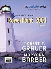 Cover of: Exploring Microsoft PowerPoint 2003 Volume 1