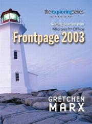Cover of: Getting started with Microsoft Office FrontPage 2003