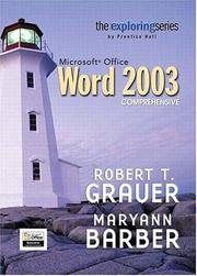 Cover of: Exploring Microsoft Word 2003 Comprehensive