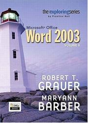 Cover of: Exploring Microsoft Word 2003 Volume 2 (Exploring)
