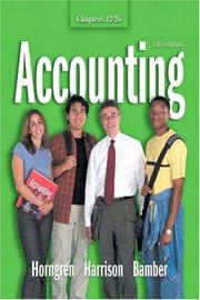 Cover of: Accounting Chapters 12 - 26 (6th Edition) | Charles T. Horngren