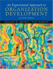 Cover of: Experiential Approach to Organization Development, An (7th Edition) | Donald R. Brown