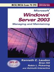 Cover of: Managing and maintaining a Microsoft Windows Server 2003 environment