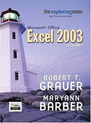 Cover of: Exploring Microsoft Office Excel 2003 Volume 1- Adhesive Bound (Exploring)
