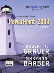 Cover of: Exploring Microsoft Office PowerPoint 2003 Volume 1- Adhesive Bound (Exploring)