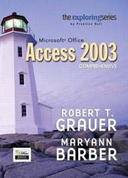 Cover of: Exploring Microsoft Office Access 2003 Comprehensive- Adhesive Bound (Exploring)