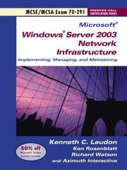 Cover of: Implementing, managing, and maintaining a Microsoft Windows Server 2003 network infrastructure