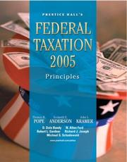 Cover of: PH's Federal Taxation 2005 | Thomas R. Pope, Kenneth E. Anderson