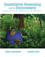 Cover of: Quantitative Reasoning & the Environment | Greg Langkamp