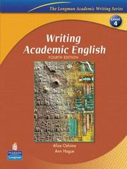 Cover of: Writing academic English | Ann Hogue