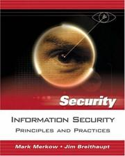 Cover of: Principles of information security