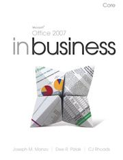 Cover of: Microsoft Office 2007 in Business, Core (In Business) | Joseph M. Manzo