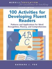 Cover of: 100 Activities for Developing Fluent Readers
